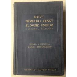 Nový Německo-Český slovník Unikum s mluvnicí a pravopisem