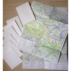 Mapové podklady - Turistický průvodce ČSSR - 9ks