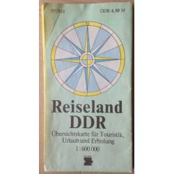 Reiseland DDR - Übersichtkarte für Touristik