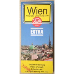 Statdplan Wien - mit grosser Umgebungskarte
