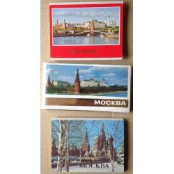 Moskva - 3 sady pohlednic