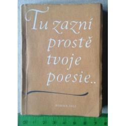 Tu zazní prostě tvoje poesie...