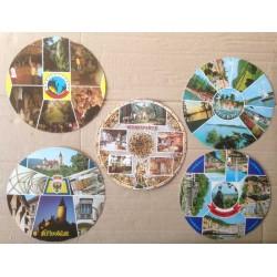 Kulaté pohlednice - 5ks