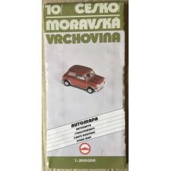 Mapa 10: Českomoravská vrchovina - automapa