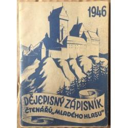 """Dějepisný zápisník čtenářů """"Mladého hlasu"""" - 1946"""