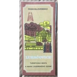 Luhačovice - turistická mapa a mapa lázeňského území