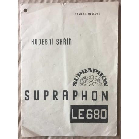 Hudební skříň Supraphon LE680 - návod k obsluze