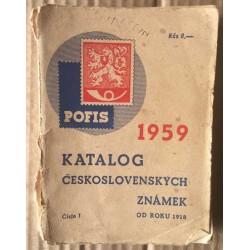 Katalog československých známek od roku 1918-1958