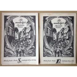 Tři mušketýři - románový sešit č.8 a č.10